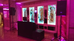 DJ Booth in LED Color Washed Room