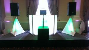 Green LED DJ Booth
