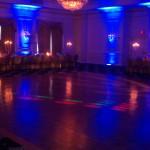 Blue LED Uplighting